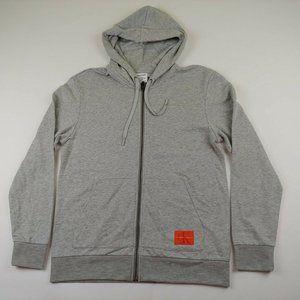 Calvin Klein Men's Full Zip Jacket Hooded Gray NWT